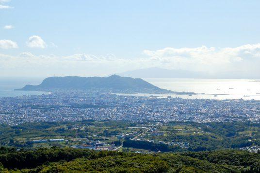 函館市街を一望